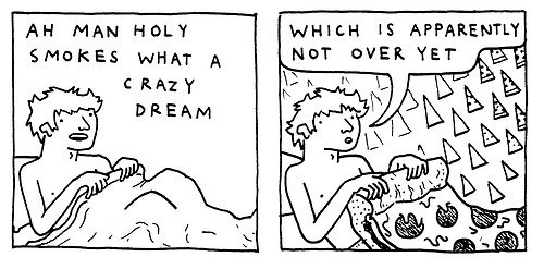 pizza,dreams,web comics,waking up