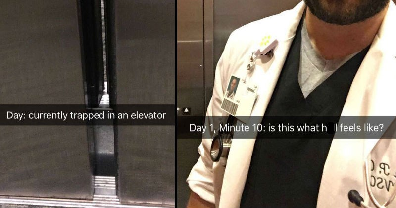impatient snapchat elevator doctor social media ridiculous - 7845381