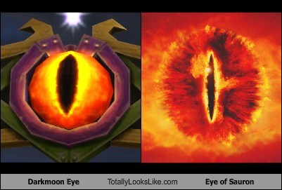 Lord of the Rings darkmoon eye totally looks like funny Eye of Sauron