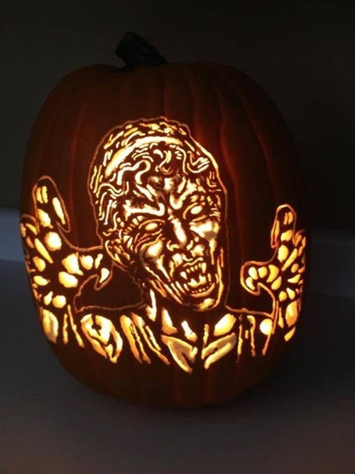 halloween ghoulish geeks jack o lanterns weeping angels doctor who - 7845567232