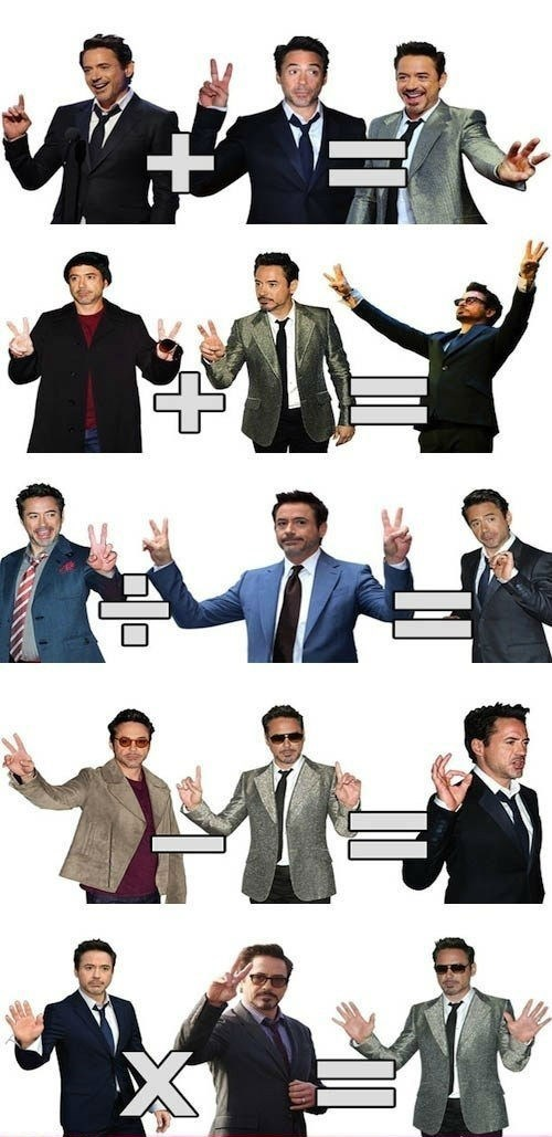 robert downey jr math funny - 7845572608