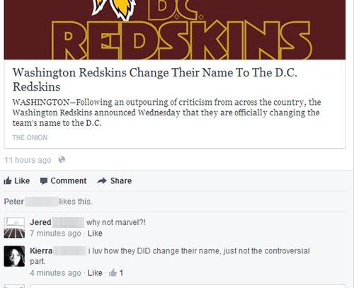 nfl dc redskins the onion washington redskins football - 7845730304