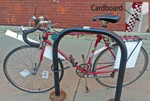 repairs bikes cardboard there I fixed it - 7845734912
