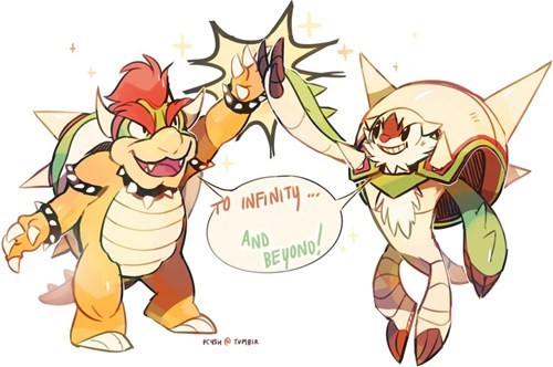 chesnaught Fan Art spikes bowser - 7845787904