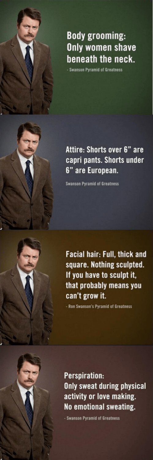pro tips fashion ron swanson