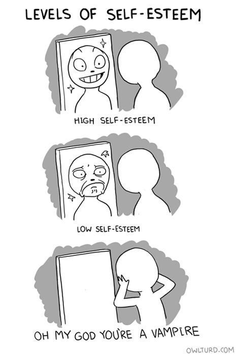 self esteem halloween mirrors funny web comics - 7845919744