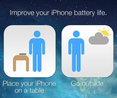 phones go outside battery life lifehacks batteries iphone - 7845961472