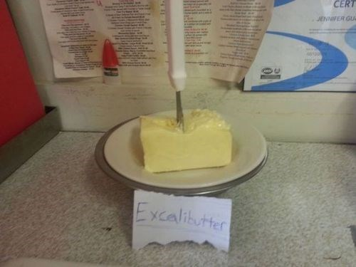 excalibur butter puns food - 7845963264