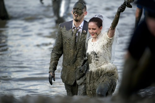 fashion mud wedding