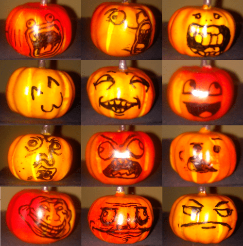 pumpkins halloween rage faces hallowmeme - 7845989376