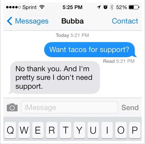 autocorrect tacos text - 7846103808