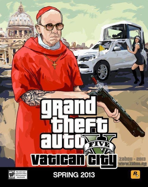 pope Grand Theft Auto catholics - 7846110208