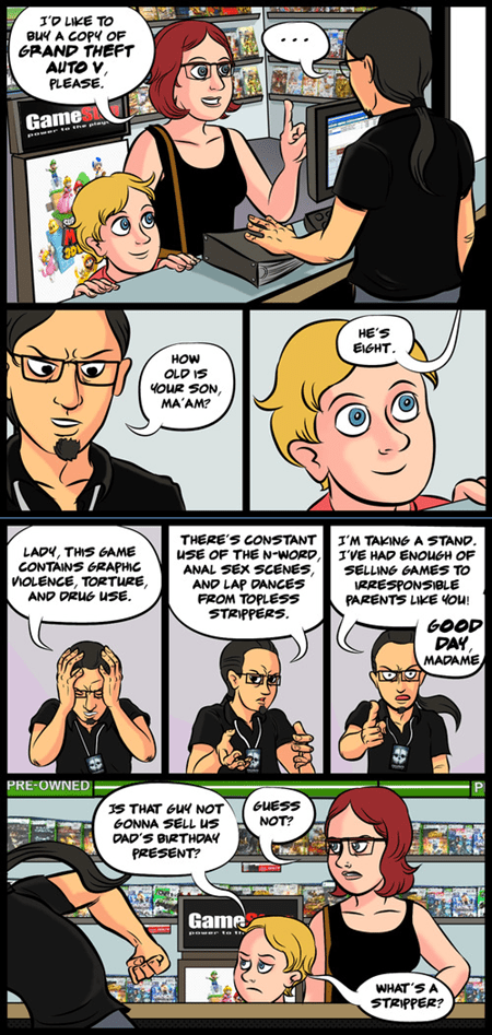 kids GTA V Videogames parenting web comics - 7846142208