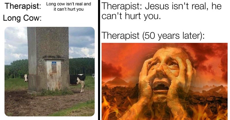 therapist therapy creepy funny memes skull cow trending memes long cow ominous farm cows dank memes minecraft animal memes animals - 7846149