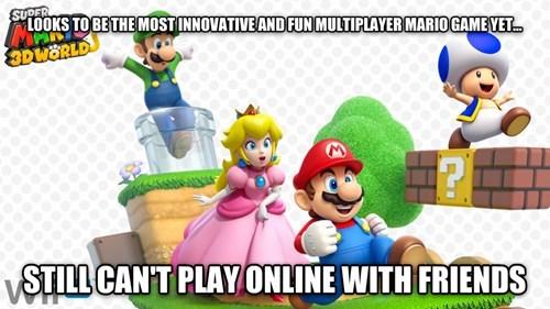 wii U online gaming super mario 3d world nintendo - 7846149888