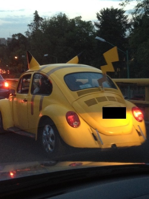 VW bug Pokémon parenting pikachu poorly dressed g rated - 7846157056