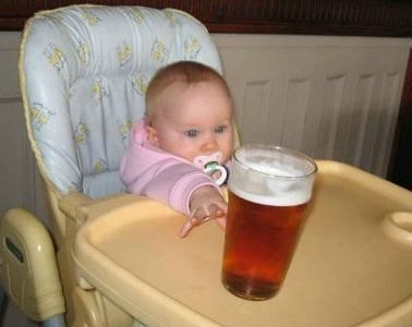 beer baby highchair funny - 7846169344