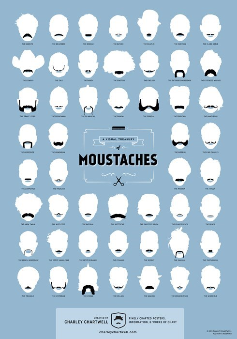 fashion mustache facial hair
