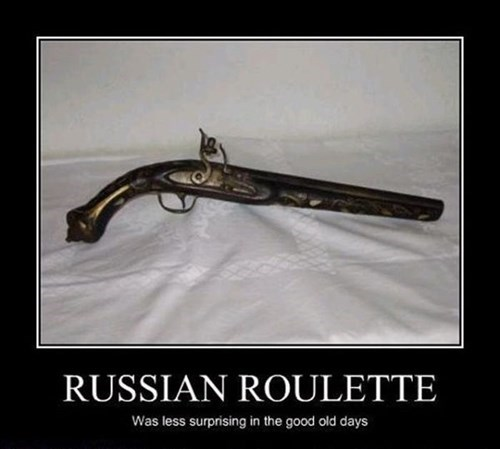 pistol russian roulette funny - 7846261504