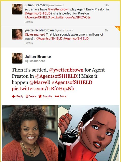 yvette nicole brown,community,celebrity twitter,agents of shield