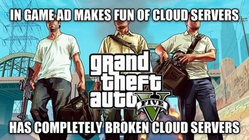 grand theft auto v,Grand Theft Auto,cloud servers