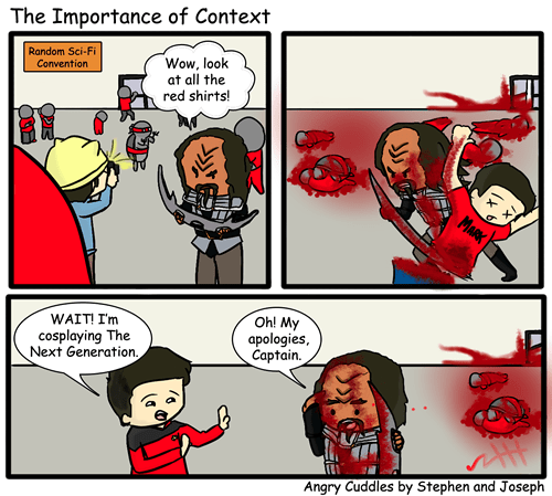 klingons context Star Trek funny web comics - 7846318848