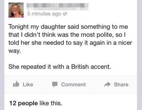 rudeness british accent politeness