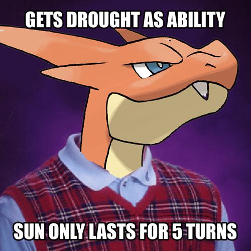 Pokémon mega charizard Y bad luck brian - 7846376960