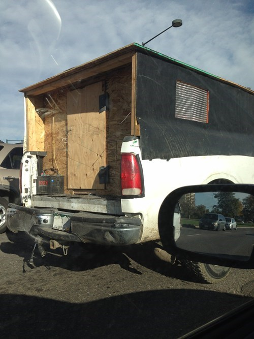 pickup truck,particle board,there I fixed it