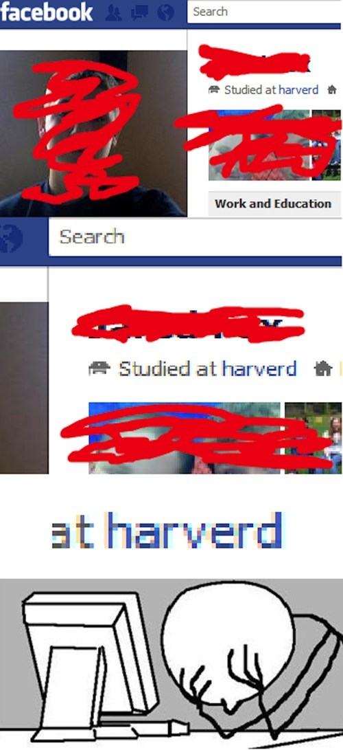facebook idiots spelling harvard - 7846955008