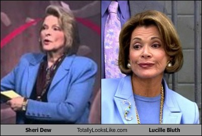 sheri dew,totally looks like,lucille bluth,funny