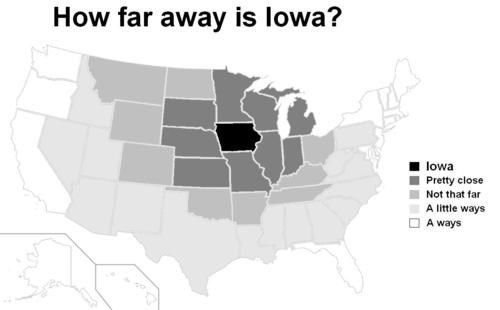 united states map Iowa