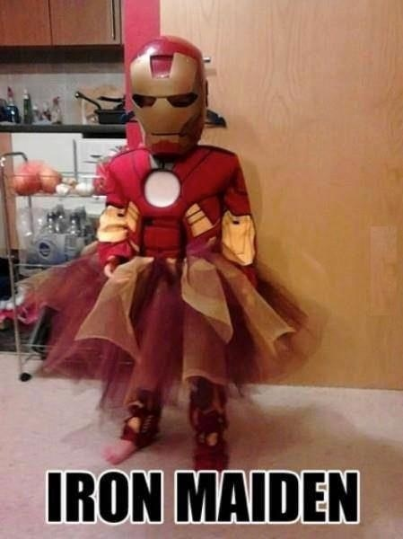 costume superheros halloween gender bender iron man kids ghoulish geeks g rated poorly dressed - 7847214592
