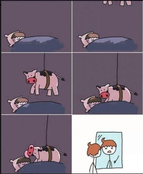 cow,comic,poorly dressed,g rated