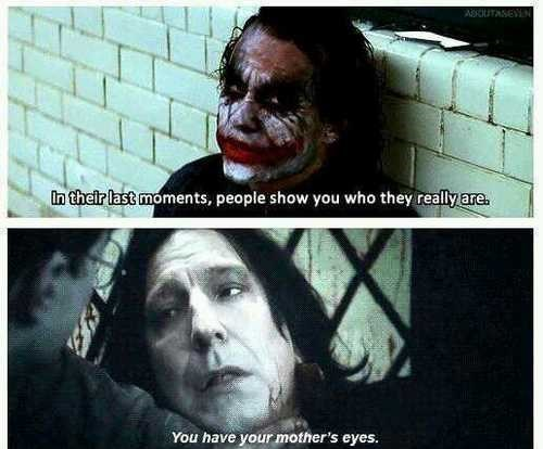 Harry Potter,dark knight,Death,the joker,professor snape