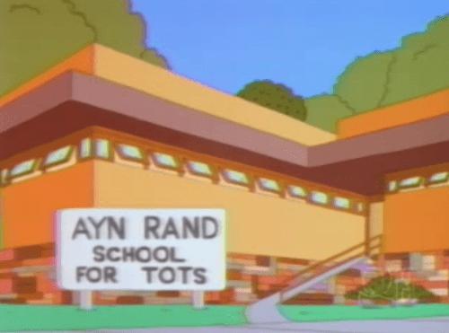 school idiots Ayn Rand funny - 7847289344