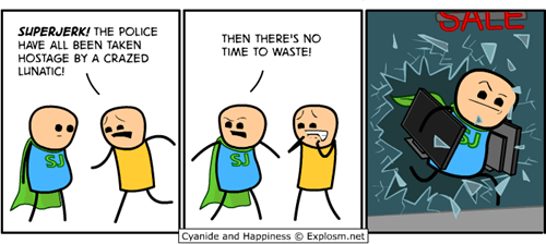 cyanide & happiness looting webcomics cyanide & happiness - 7847299840