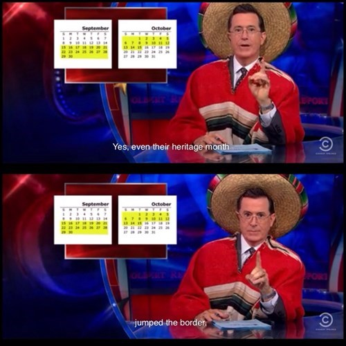 stephen colbert hispanic heritage colbert report borders - 7847330560