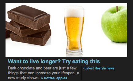 beer health chocolate science funny live longer - 7847374336