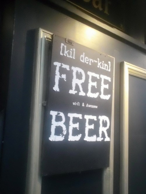 beer sign funny pubs free