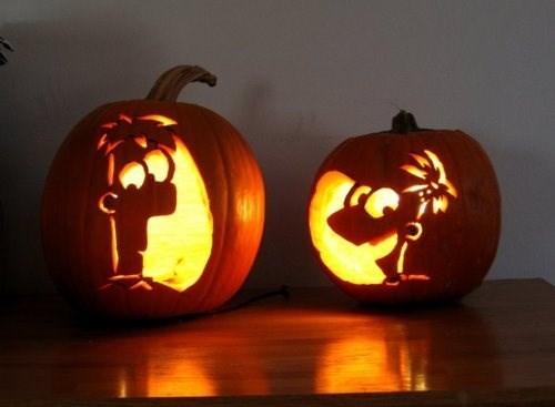 disney halloween ghoulish geeks jack o lanterns cartoons phineas and ferb - 7847487744
