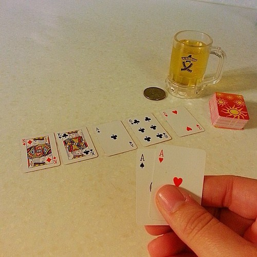 beer pixies tiny cards poker funny - 7847493376