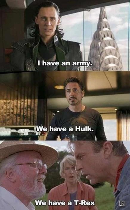 trex jurassic park hulk avengers - 7847502336
