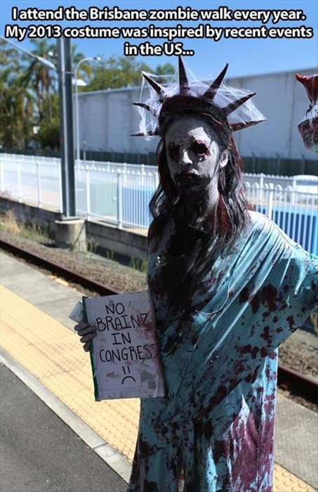 costume,halloween,australia,zombie,politics,poorly dressed