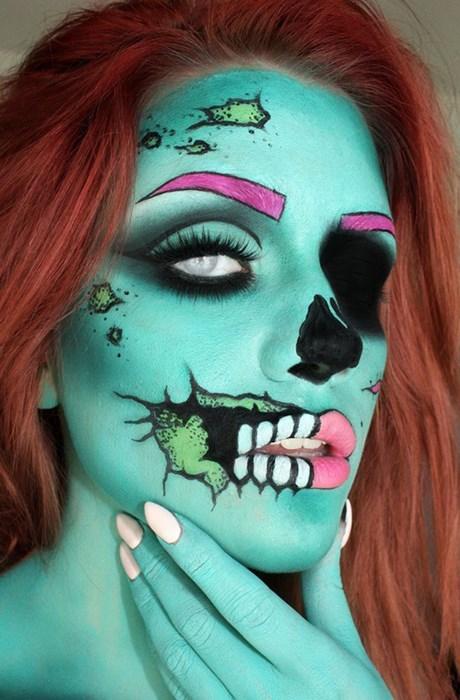 makeup halloween funny - 7847688704
