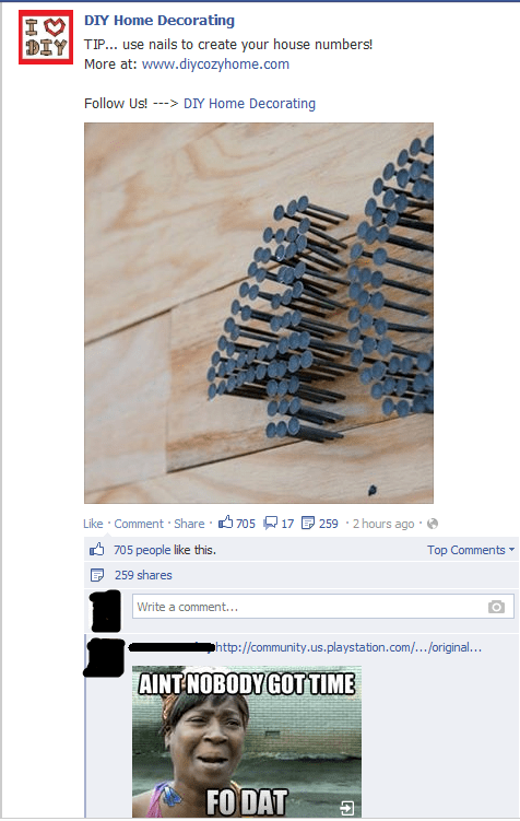 DIY nobody got time for dat failbook g rated