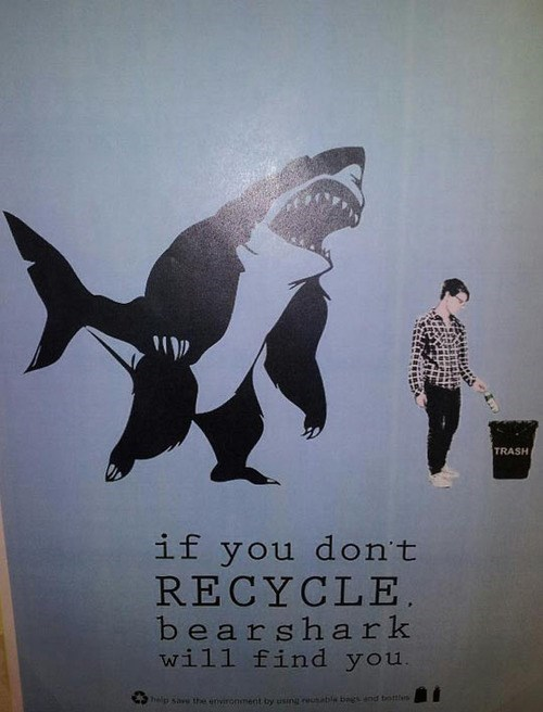 bearsharks,recycle,recycling,monday thru friday,g rated