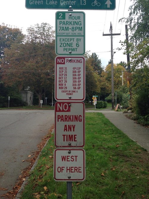 sign what funny parking fail nation g rated - 7847975168