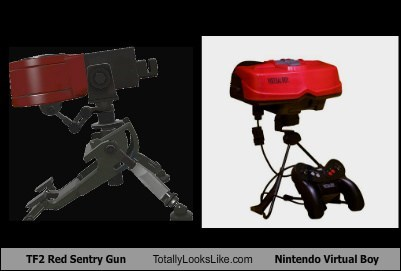 guns,virtual boy,Team Fortress 2,totally looks like,funny,nintendo