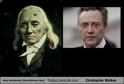Peter Mackintosh (Revolutionary War) Totally Looks Like Christopher Walken